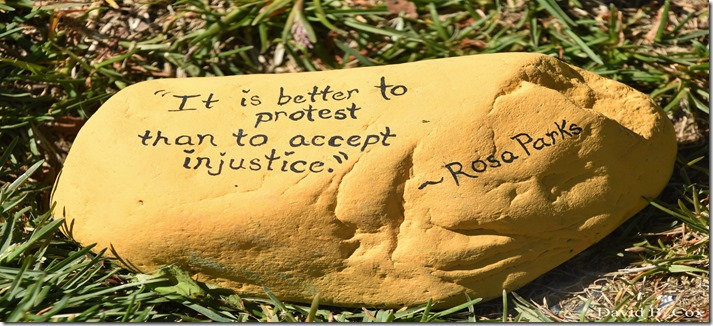 2020 6 1 Blvd painted Rocks & Protest At Rotary 036