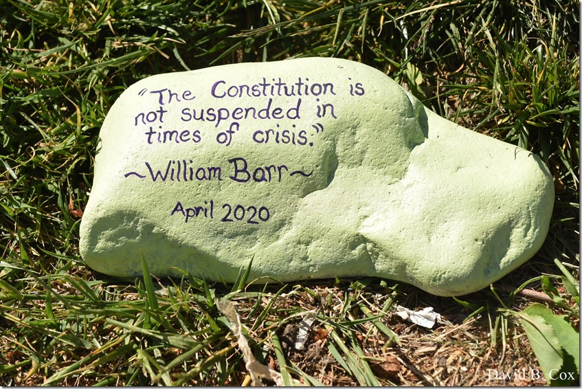 2020 6 1 Blvd painted Rocks & Protest At Rotary 049