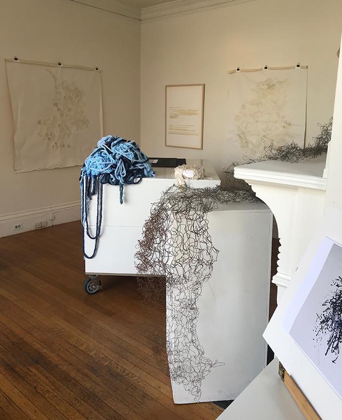Installation -- GAIL BARKER | Art as Process @ Jane Deering Gallery, Gloucester MA