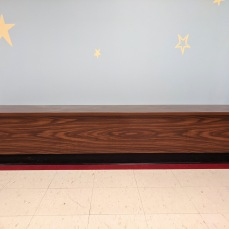 AFTER custom benches_DPW renovations at O'Maley school since March 2020 Gloucester Mass_photo copyright ©c ryan