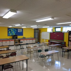 AFTER fresh coat paint in classrooms color selected by teacher_DPW renovations O'Maley school since March 2020 Gloucester Mass_photo copyright ©c ryan