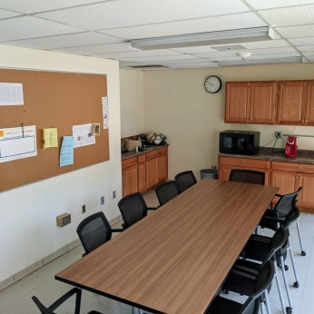 AFTER one of the teacher's break room_DPW renovations at O'Maley school since March 2020 Gloucester Mass_photo copyright ©c ryan