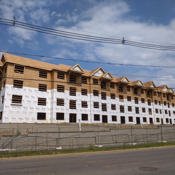 Halyard Apartments and YMCA Gloucester Crossing progress_20200722_Gloucester Mass ©c ryan