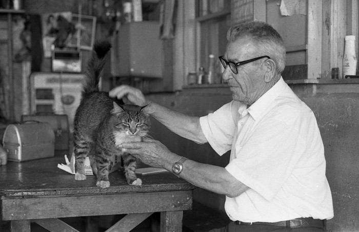 man with cat and lunch box.JPG