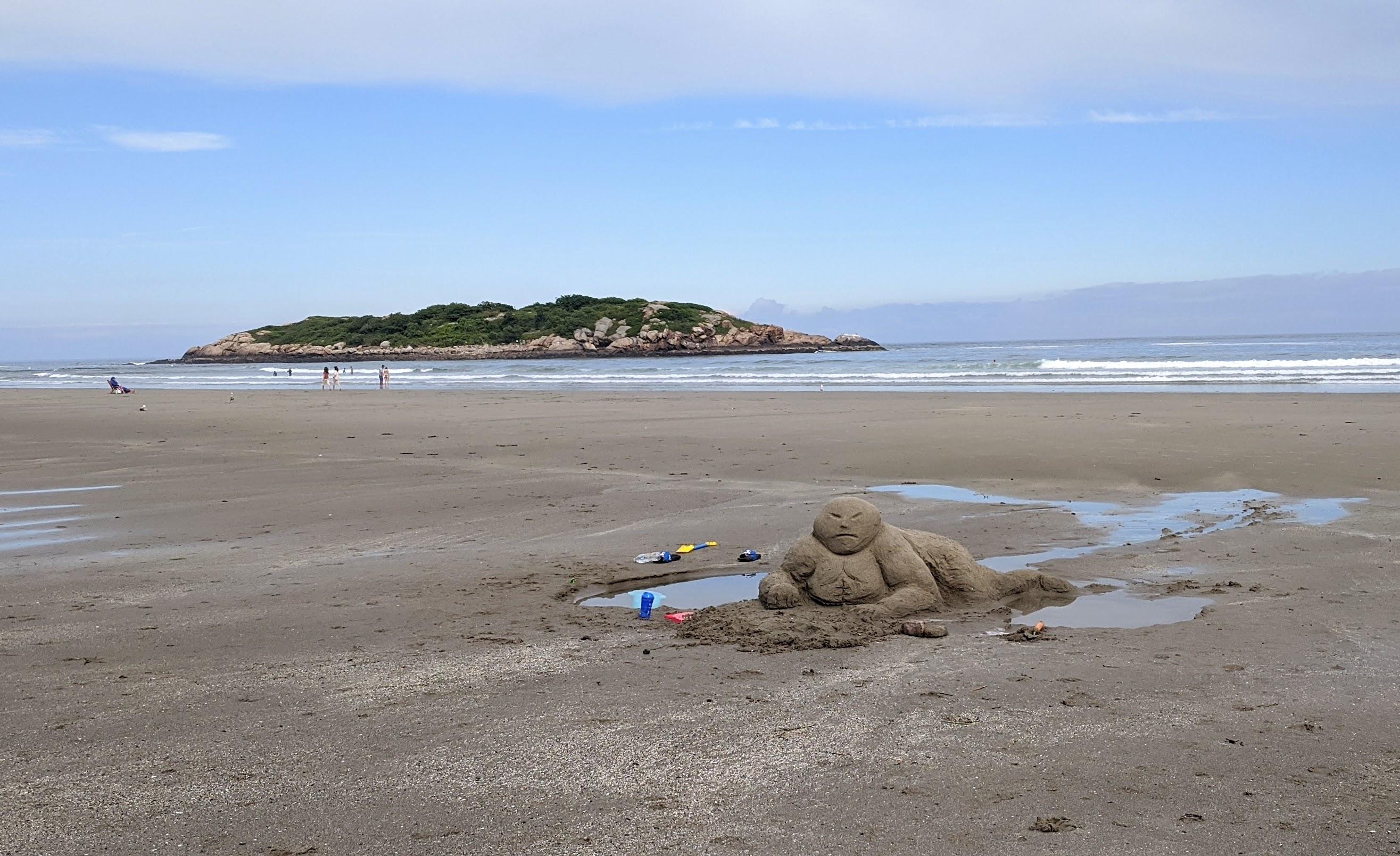 Mood! sand sculpture figure_20200701_Good Harbor Beach Gloucester Ma ©c ryan