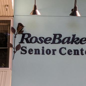 ROSE in sign pops more_Rose Baker Senior Center Gloucester Mass new exterior paint_20200721_in progress ©c ryan