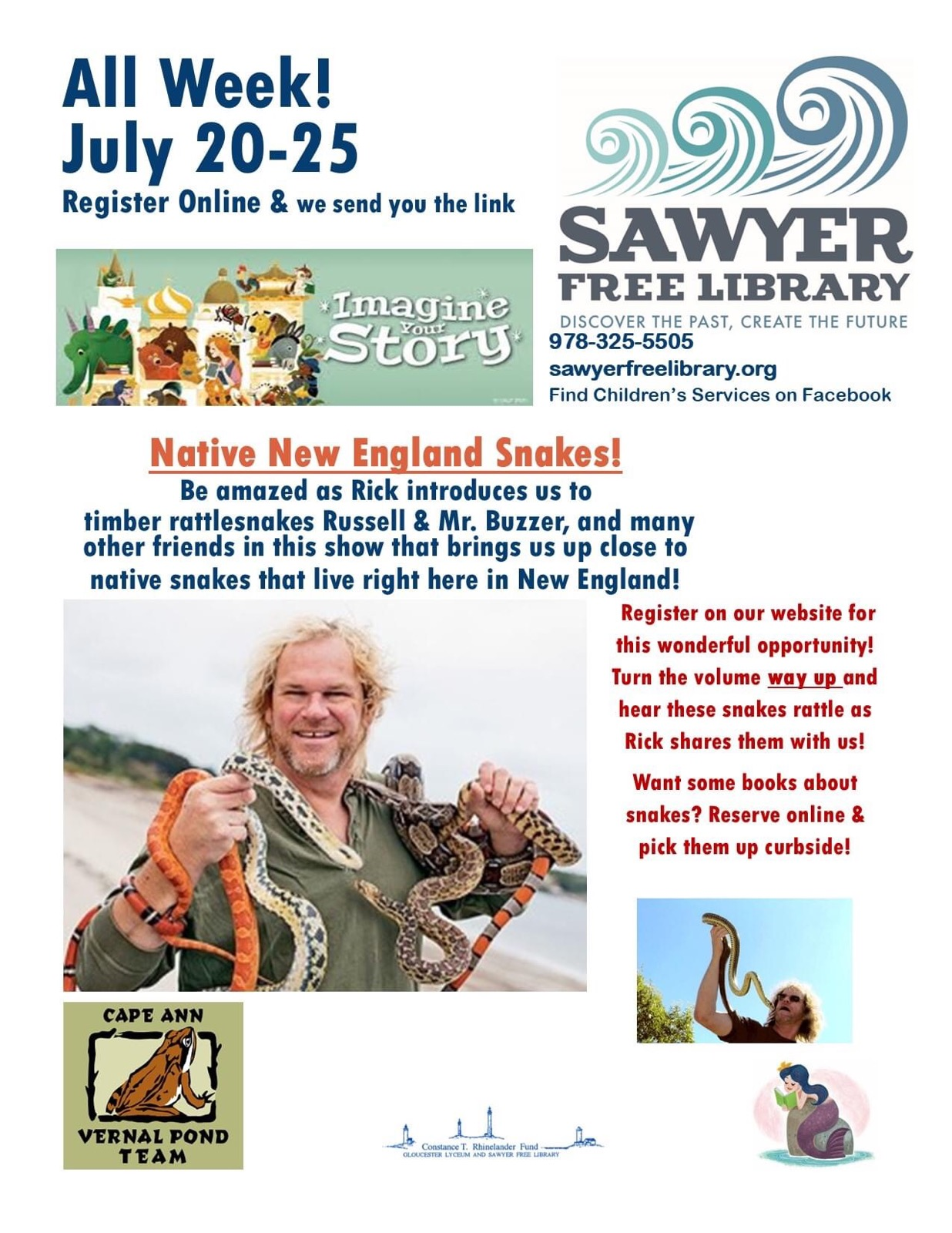 Snake - Sawyer Free Childrens Services program
