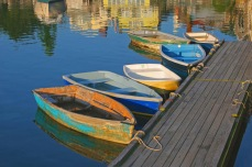 """John Abisamra, """"Dinghies at Rest,"""" photograph, 24 x 36 inches, $350."""