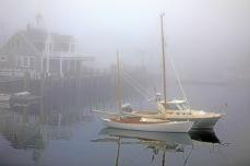 """John Abisamra, """"Sailboats in Fog,"""" photograph, 18 x 24 inches, $230."""