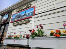 2017 Destino's flower boxes and custom sign Gloucester Mass ©c ryan