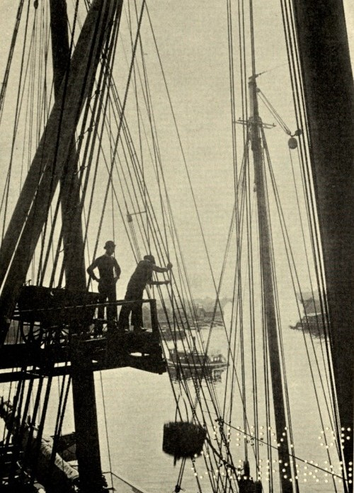 CLARENCE MANNING FALT photo_ illustrate his 1902 book poetry Wharf Fleet_Univ Ca