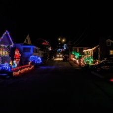 Elizabeth St block (neighbors merge their light displays)
