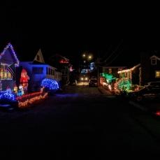 Elizabeth St block (neighbors merge their light displays)