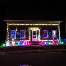 Rt. 127 _2020 Dec 2_Christmas Lights Gloucester Massachusetts photo copyright C. Ryan