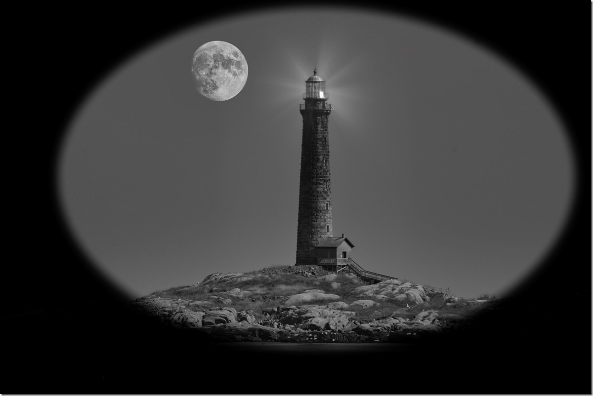 Thatcher Light House Moon