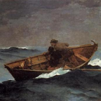WINSLOW HOMER Lost on the Grand Banks 1885 _collection Bill and Melinda Gates